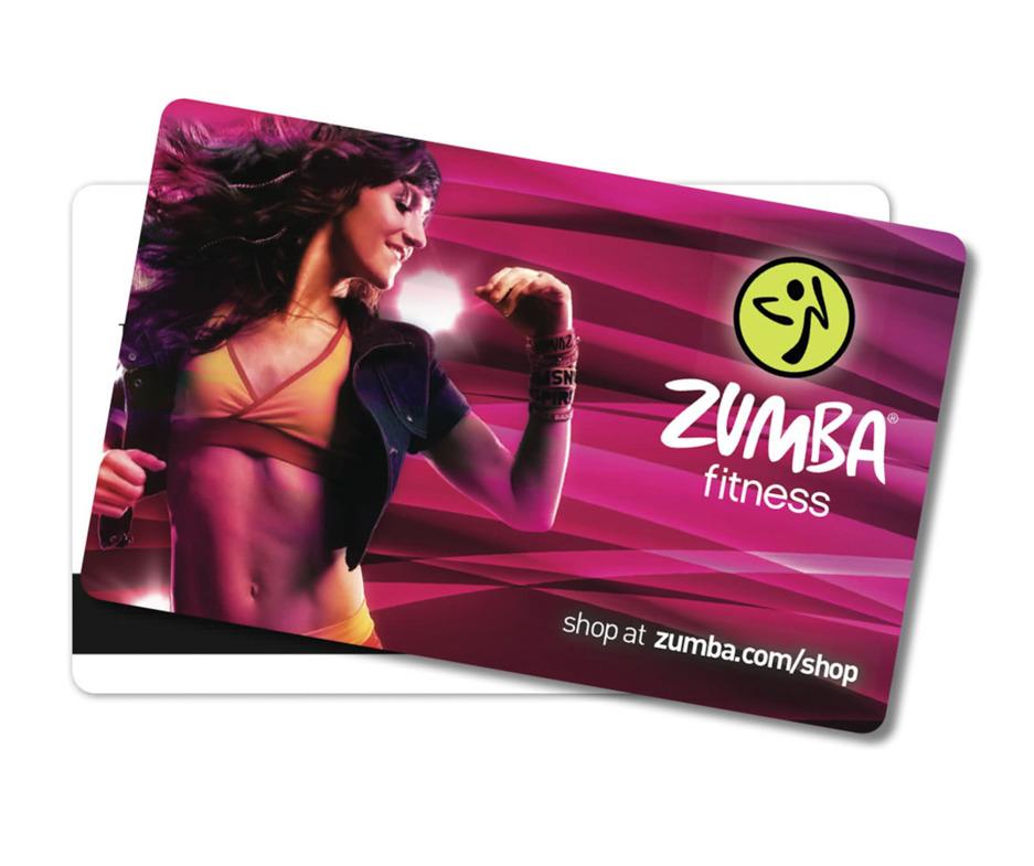 Gift card 50 zumba fitness shop gift card 50 reheart Choice Image
