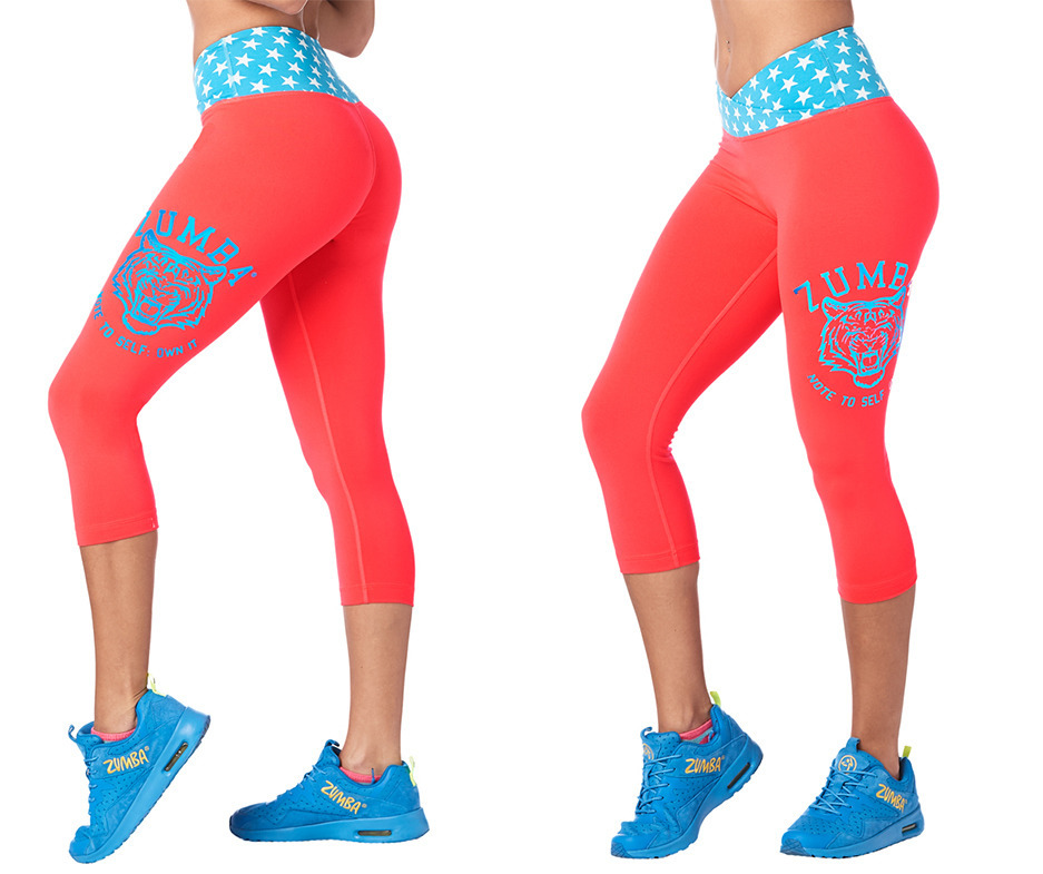 dedc6803c7417c Zumba Roar Capri Leggings | Zumba Fitness Shop
