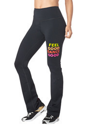 Zumba Groovy High Waisted Flare Leggings
