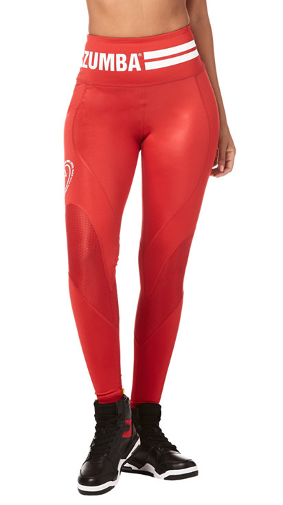 \Zumba Varsity High Waist Ankle Leggings product image
