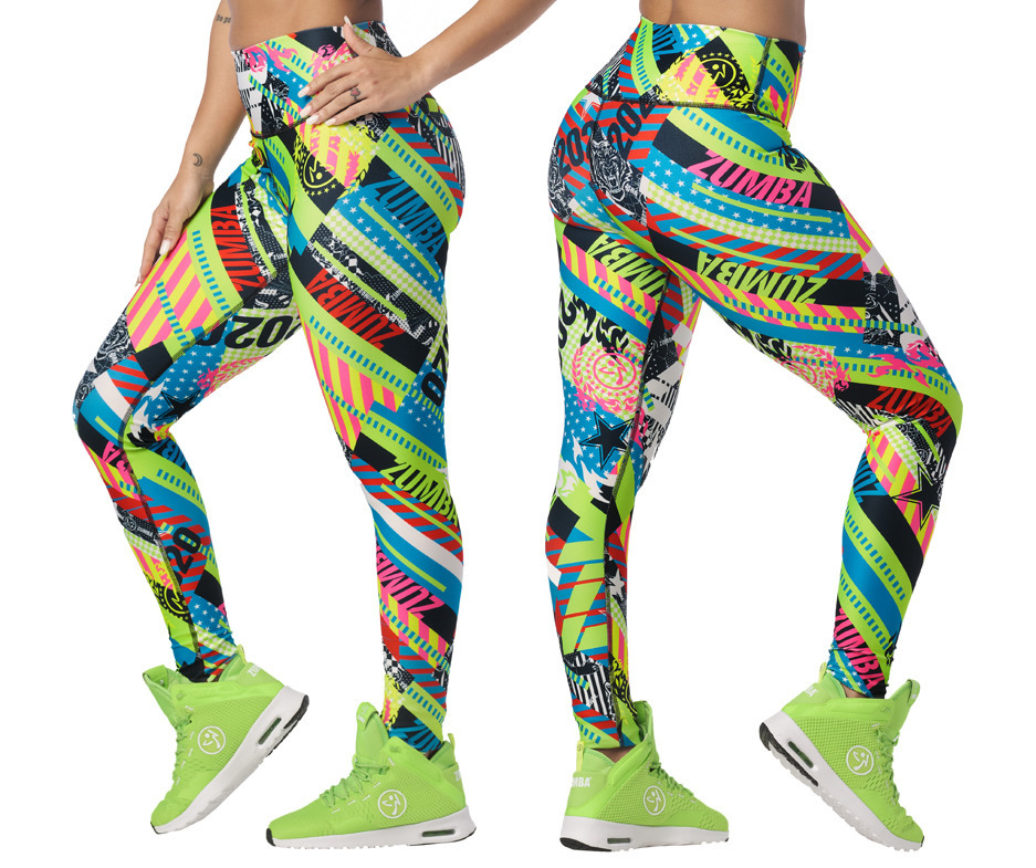 Zumba 2020 High Waisted Long Leggings Toko Zumba Fitness