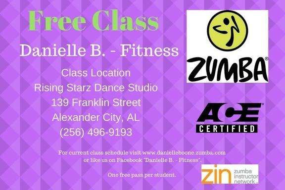 Zumba class at Rising Starz with Danielle Boone