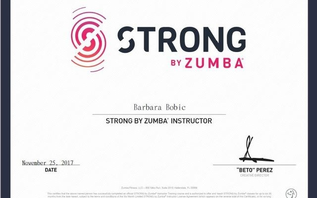 STRONG by Zumba class at Vancouver with Barbara Bobic